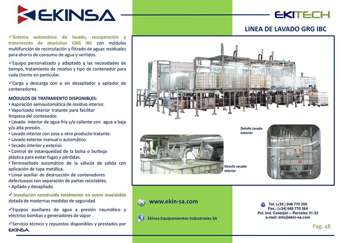 IBC Automatic Washing Lines GRGS Ekinsa
