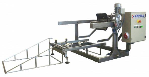 Lavabarricas Semiautomático con Elevación Eléctrica 225-300-600 Litros