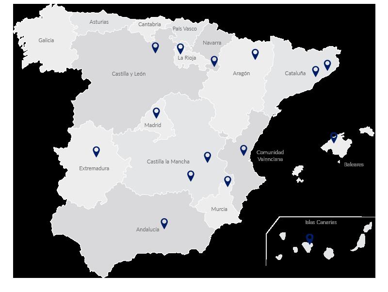 mapa españa ekinsa